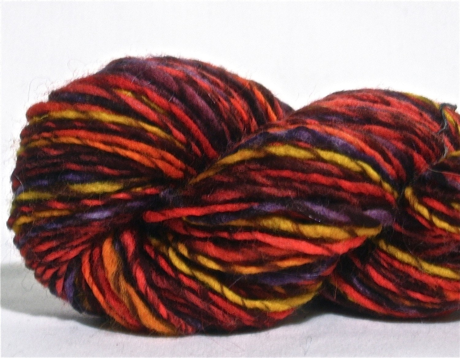 Worsted Weight Yarn : Handspun Yarn Worsted Weight Wool Singles by spinynormanknits
