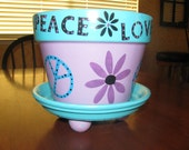 Peace Love Flower Pot