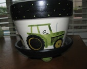 Flower Pot .. Tractor & Farm Animals