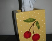 Cherry Tissue Holder