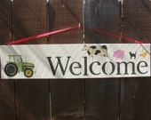 Welcome Farm Sign