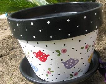 Flower pot ... Tea Pot Multi Color
