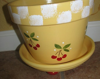 Flower Pot ... Cherries