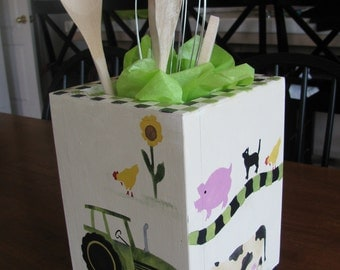 Kitchen Utensil Holder ... Tractor and Farm