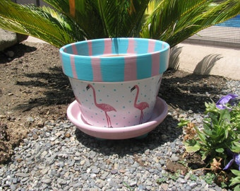 Flamingo Flower Pot