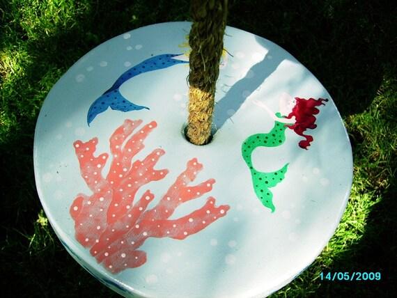 Wooden Tree Swing ... Mermaid