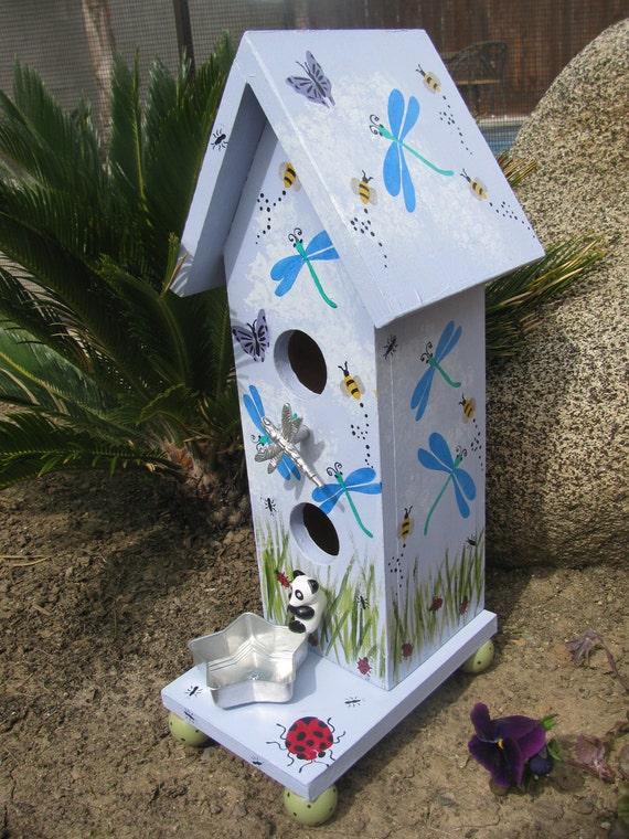 Garden Birdhouse ... Vintage pieces