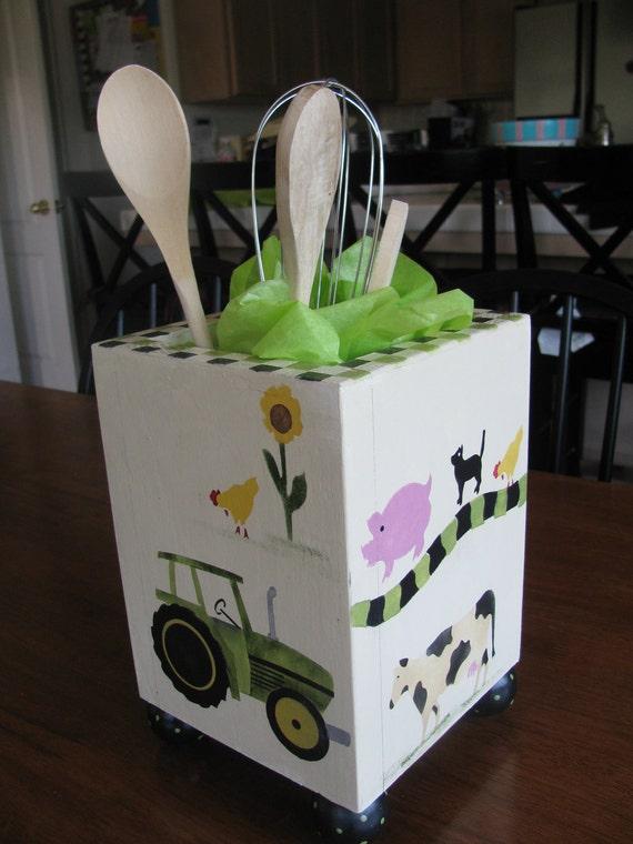 Kitchen Utensil Holder ... Tractor and Farm