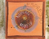MakeUp Compact - Espresso Hue - Contemporary Mini Art
