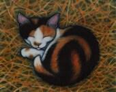 Vermont Barn Cat print