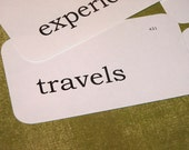set of 6 TRAVEL themed flash cards tags by Codie MBDT