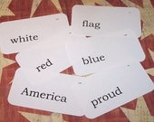 set of 6 AMERICA themed flash cards tags by Codie MBDT