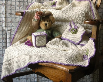 Sweet Pea Blanket and Soft Block Knitting Pattern ONLINE DOWNLOAD