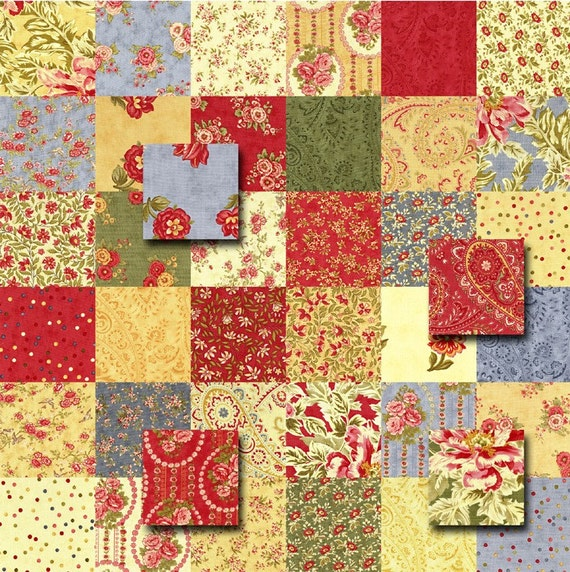 moda portugal charm pack quilt kit fabric squares