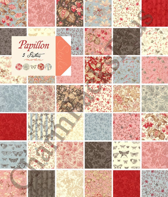PAPILLON Moda Charm Pack Five Inch Quilt Fabric Squares