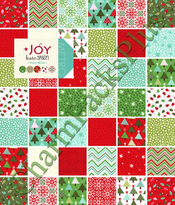 JOY by Kate Spain  - Moda Charm Pack - 5 inch Quilt Fabric Squares - 27120pp