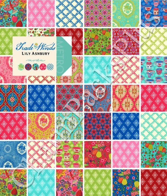 TRADE WINDS - Moda Fabric Charm Pack - Five Inch Quilt Squares Quilting Material
