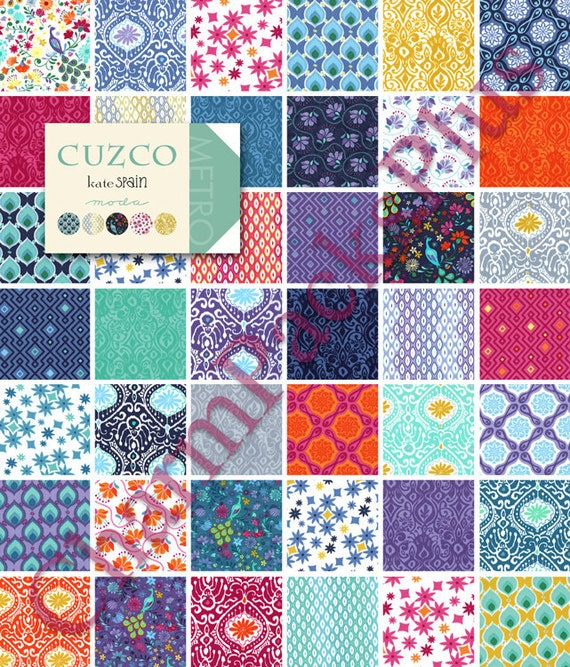 CUZCO by Kate Spain - Moda Fabric Charm Pack - Five Inch Quilt Squares Quilting Material