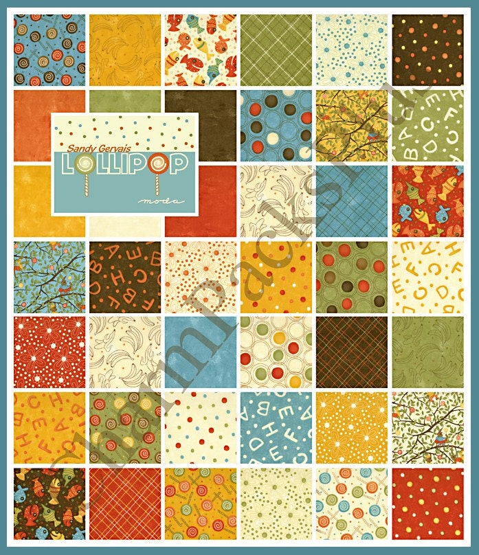 lollipop moda charm pack quilt fabric squares by charmpacks