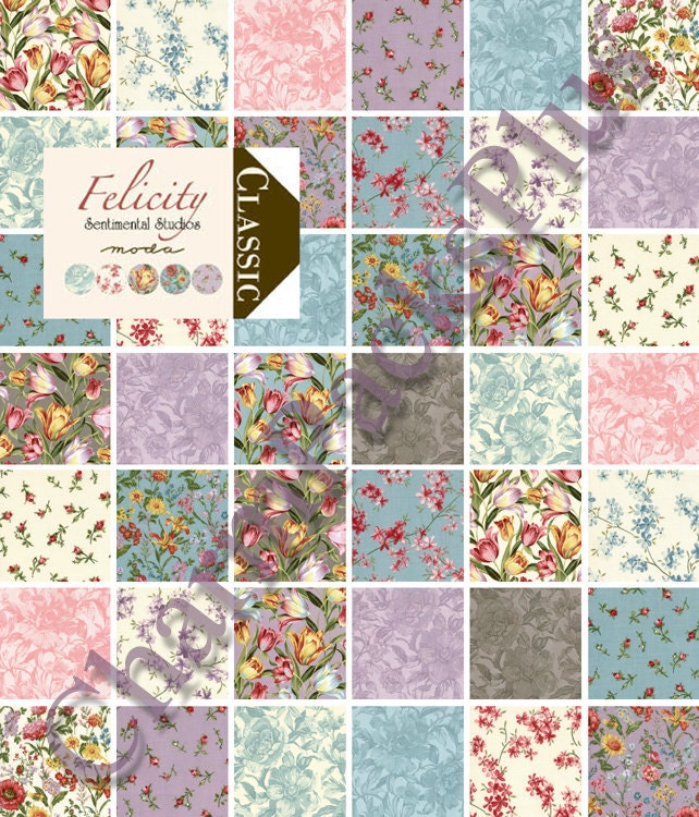 felicity moda charm pack five inch quilt fabric squares