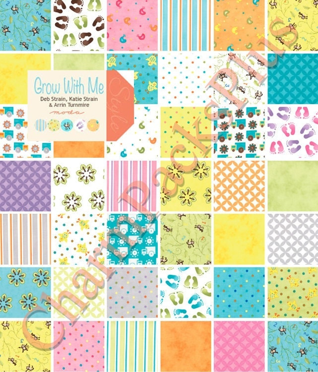 grow with me moda charm pack baby five inch quilt fabric
