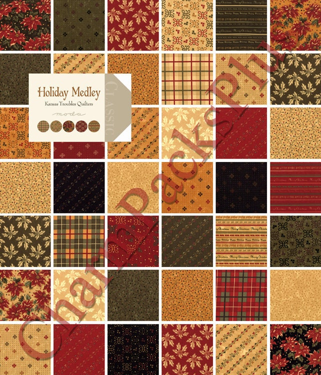 Holiday Medley By Kansas Troubles Quilter Moda Charm Pack