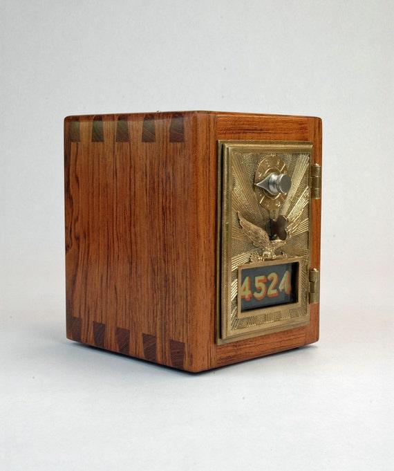 Jatoba Post Office Box Coin Bank 1906