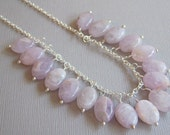 Wire Wrapped Pale  Amethyst Necklace