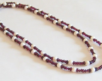 Garnets and Pearls Necklace