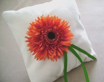 Le Fleur Orange Ring Bearer Pillow