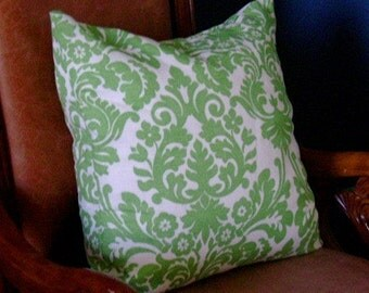 Echelon 20in x 20in Down Feather Pillow in Grass Green-Ready to ship