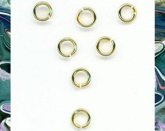 5mm Jumprings   brass plate jumprings   20 gauge jumprings