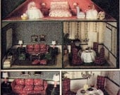 Vintage 1970s McCall's 6889 1-12 Dollhouse with Furniture and Accessories Sewing Pattern--Not In Original Envelope