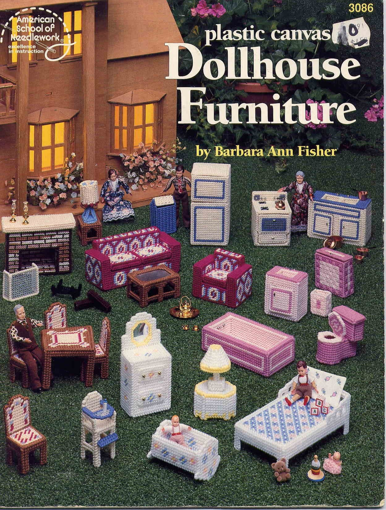 Plastic Canvas Dollhouse Furniture Booklethouse Full By Allsfairy