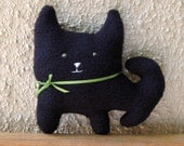 Beauregard the Little Black Cat Handmade Softie