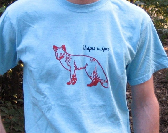 Red Fox (Vulpes Vulpes) Mens or Womens XL Tee - SALE -  Was 19, Now 8