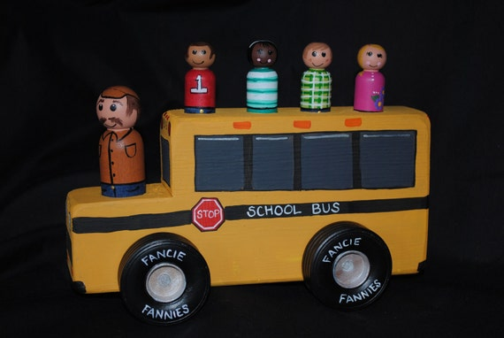 Fancie TwoByToy School Bus