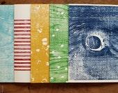 Hand printed wood block card set