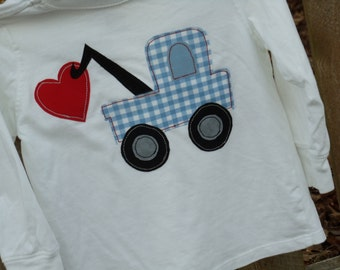 Items similar to valentines day truck hearts fishing pole for Fishing shirt of the month