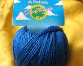 Patons Cotton DK, Bright Blue, 5 50 Gram Balls, DESTASH