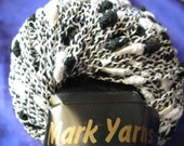 Mark Yarns, Carnival Light Cotton Blend Yarn, Black and White, 6 50 Gram Balls, DESTASH