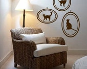 ShaNickers Wall Decal-Framed Print Collection-Cats--FREE SHIPPING