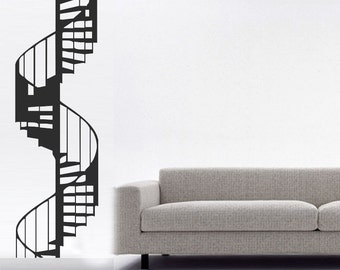 ShaNickers Wall Decal- Spiral Staircase-STANDARD COLOR--Free Shipping