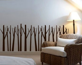 ShaNickers Wall Decal/Sticker -Birches in a Row-FREE SHIPPING