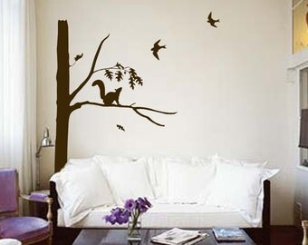 ShaNickers Wall Decal -Squirrely--FREE SHIPPING