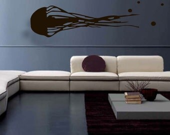 Wall Decal/Sticker- GIANT JELLYFISH--Free Shipping