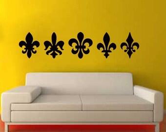ShaNickers Wall Decal/Sticker- Fleur De Lis--FREE SHIPPING