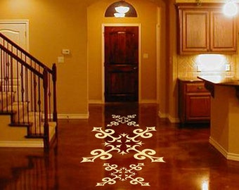 ShaNickers Floor Decal/Sticker-SPANISH TILE MOTIF 22 inches--Free Shipping