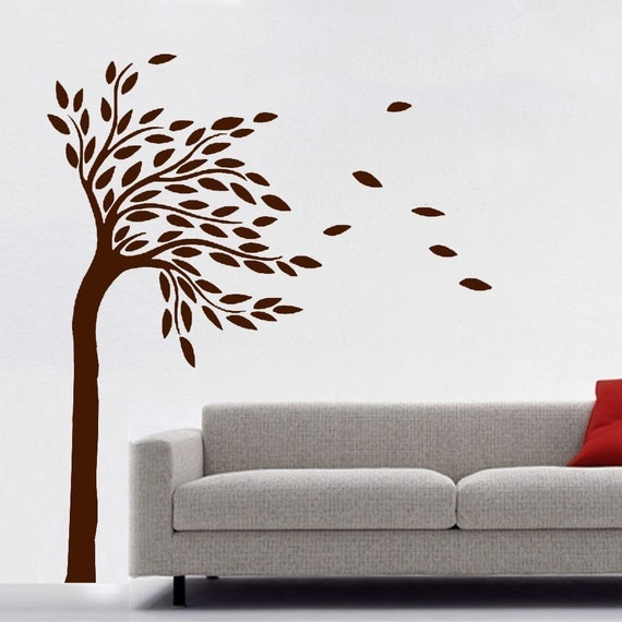 "ShaNickers Wall Decal/Sticker-""Tree in Wind""-Free Shipping"