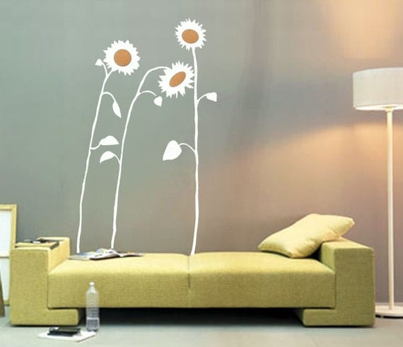 ShaNickers Wall Decal, Sunflowers, Free Shipping
